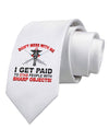 Nurse - Don't Mess With Me Printed White Necktie