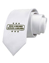 Always A Soldier Printed White Necktie
