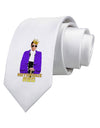 Notorious RBG Printed White Necktie