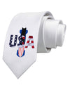 USA Bobsled Printed White Necktie