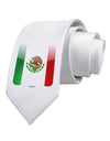 Mexican Flag App Icon Printed White Necktie