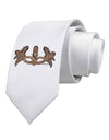 Earth Masquerade Mask Printed White Necktie