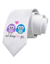 Owl Always Love You Printed White Necktie