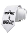 Personalized I'm -Customizable- What's Your Superpower Printed White Necktie