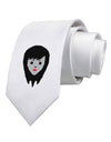 Cute Pixel Vampire Female Printed White Necktie