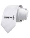 Nothing But Treble Music Pun Printed White Necktie