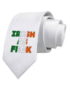 Irish As Feck Funny Printed White Necktie