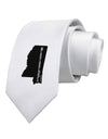 Mississippi - United States Shape Printed White Necktie
