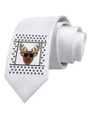 Cool Rudolph Sweater Printed White Necktie