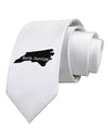 North Carolina - United States Shape Printed White Necktie