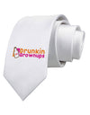 Drunken Grown ups Funny Drinking Printed White Necktie