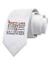 Everyday Is Halloween Printed White Necktie