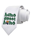 Home Sweet Home - Arizona - Cactus and State Flag Printed White Necktie