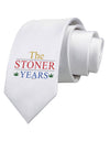 The Stoner Years Printed White Necktie