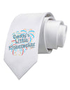 Daddy's Little Firecracker Printed White Necktie