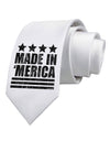 Made in Merica - Stars and Stripes Design Printed White Necktie