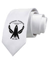 Space Force Funny Anti Trump Printed White Necktie