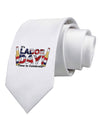 Labor Day - Celebrate Printed White Necktie