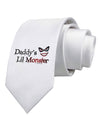 Daddys Lil Monster Printed White Necktie
