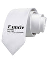 Funcle - Fun Uncle Printed White Neck Tie