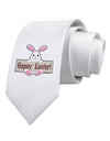 Cute Bunny - Happy Easter Printed White Necktie