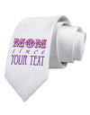 Personalized Mom Since ___ Printed White Necktie