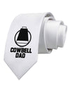 Cowbell Dad Printed White Necktie