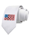 One Nation Under God Printed White Necktie