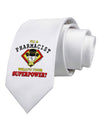 Pharmacist - Superpower Printed White Necktie