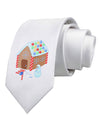 Little Gingerbread House Design #1 Printed White Necktie