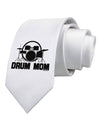 Drum Mom - Mother's Day Design Printed White Necktie