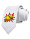 Mom Master Of Multi-tasking Printed White Necktie