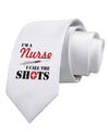 Nurse - Call The Shots Printed White Necktie