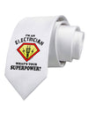 Electrician - Superpower Printed White Necktie