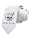 I'm Egg Nog-stic - Cute Egg Nog Printed White Necktie