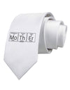 Mother - Periodic Table Printed White Necktie