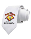 Dental Assistant - Superpower Printed White Necktie