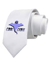 Cool Ghoul Printed White Necktie