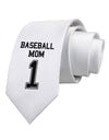 Baseball Mom Jersey Printed White Necktie