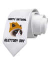 Gluttony Day Disgruntled Cat Printed White by
