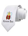 Queen Bee Text Printed White Necktie