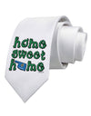 Home Sweet Home - Oklahoma - Cactus and State Flag Printed White Necktie