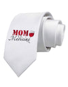 Mom Medicine Printed White Necktie