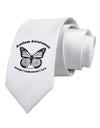 Autism Awareness - Puzzle Piece Butterfly 2 Printed White Necktie