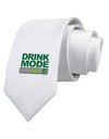 Drink Mode On Printed White Necktie