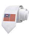 American Bacon Flag Printed White Necktie