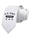 Retired Navy Printed White Necktie