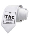 420 Element THC Funny Stoner Printed White Necktie