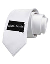 South Dakota - United States Shape Printed White Necktie