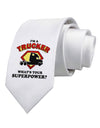 Trucker - Superpower Printed White Necktie